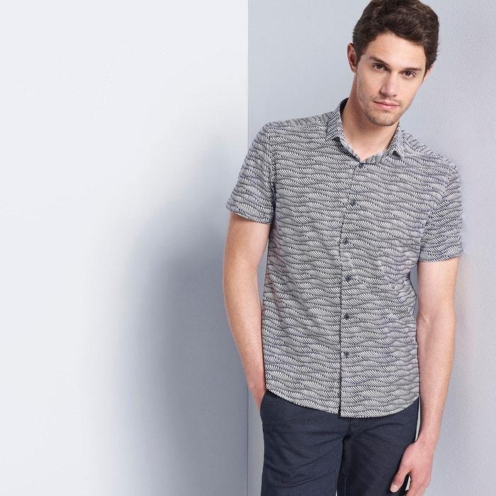 chemise homme casual fantaisie bleu franc devred la redoute. Black Bedroom Furniture Sets. Home Design Ideas