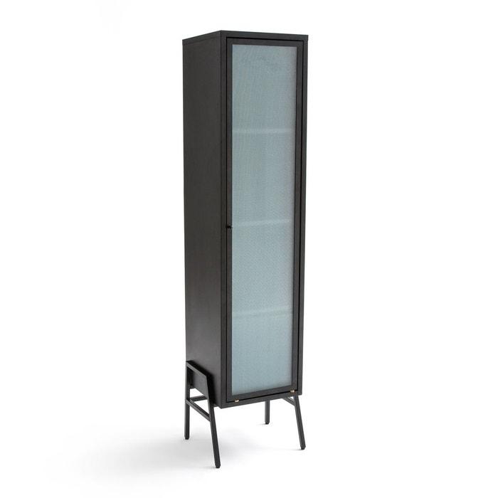 Armoire 1 Porte Metal Et Verre Poda Noir La Redoute Interieurs La
