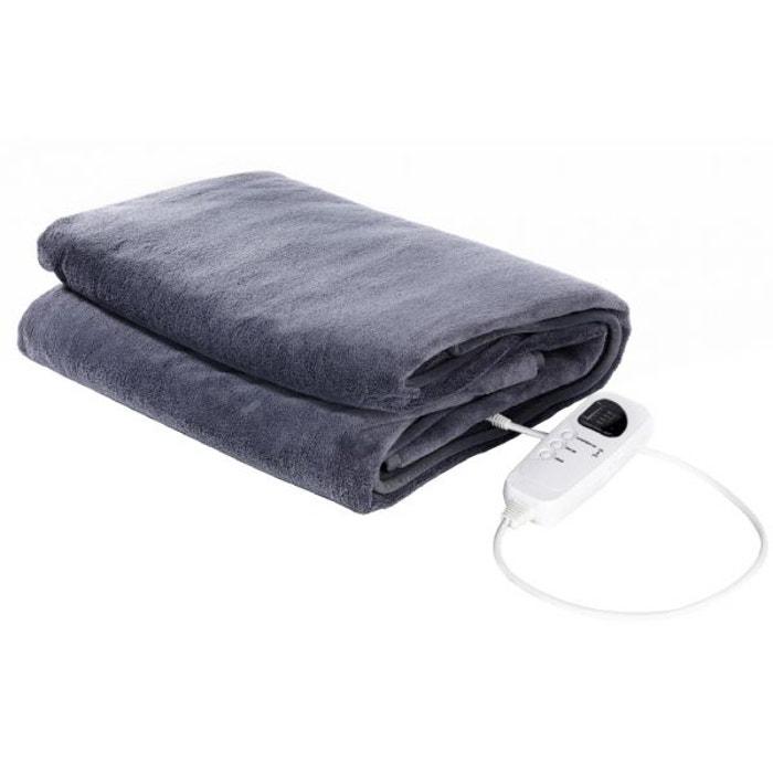 tristar v ritable couverture lectrique polaire pour lit 2 personnes 160 x 130cm gris bleu. Black Bedroom Furniture Sets. Home Design Ideas