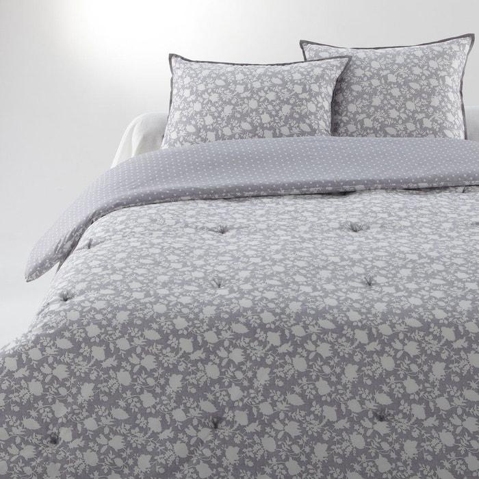 couvre lit c leste gris blanc la redoute interieurs la redoute. Black Bedroom Furniture Sets. Home Design Ideas