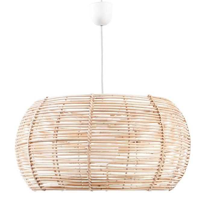 abat jour en rotin naturel beige clair kok la redoute. Black Bedroom Furniture Sets. Home Design Ideas