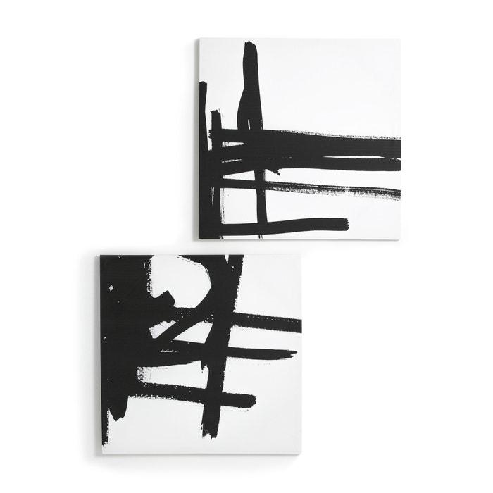 pintura sobre lienzo con motivo 1 dystila negro am pm la redoute. Black Bedroom Furniture Sets. Home Design Ideas