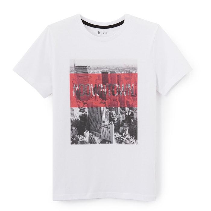Camiseta estampada, cuello redondo, manga corta  La Redoute Collections image 0