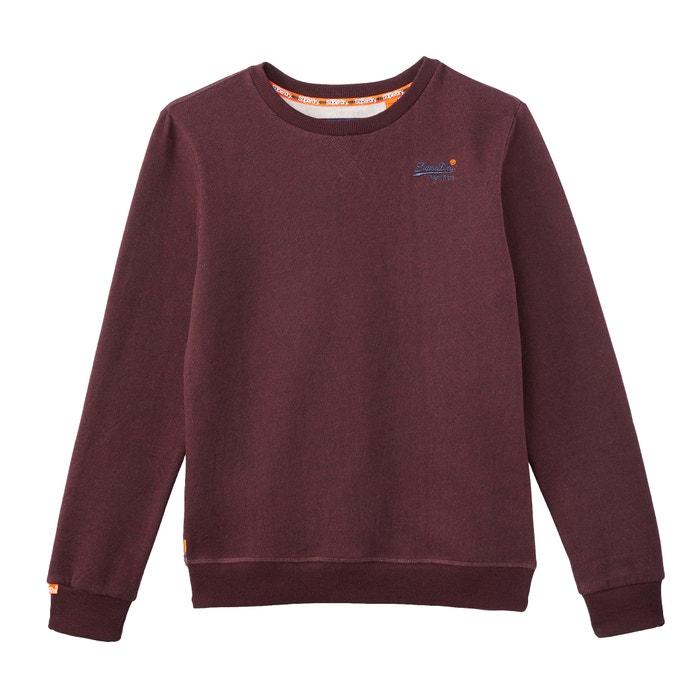 4206e19dd87 Sweater met ronde hals, orange label bordeaux rood Superdry | La Redoute