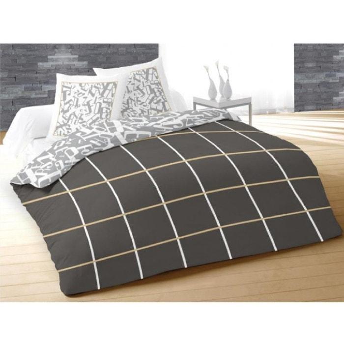 parure housse de couette 240 x 220 cm alpha gris douceur d 39 int rieur la redoute. Black Bedroom Furniture Sets. Home Design Ideas