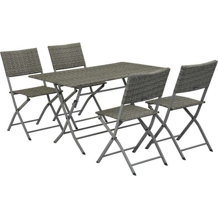 Salon de jardin en r sine tress e sydney florida - La redoute table de jardin en resine tressee ...