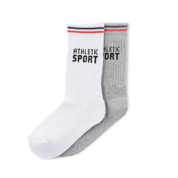 Chaussettes hautes de sport (lot de 2)
