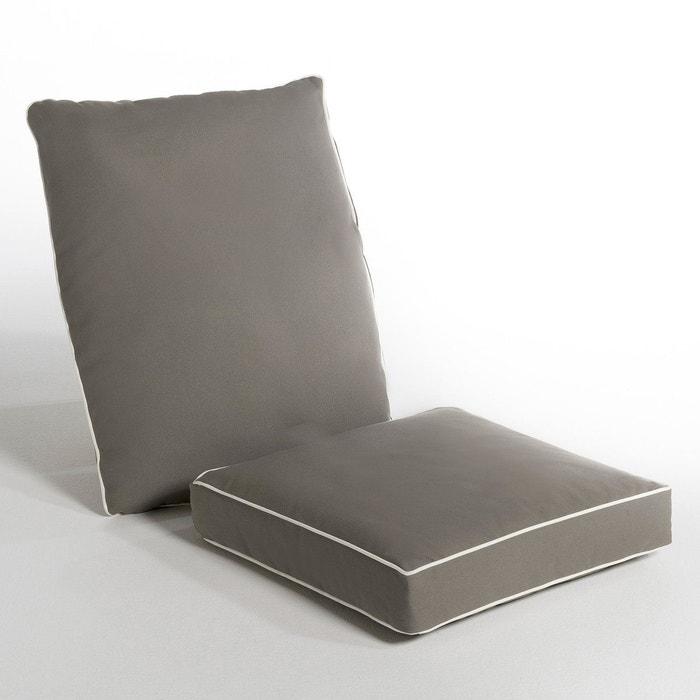 Coussins pour fauteuil meltem gris l phant cru am pm - Coussin pour fauteuil de salon ...