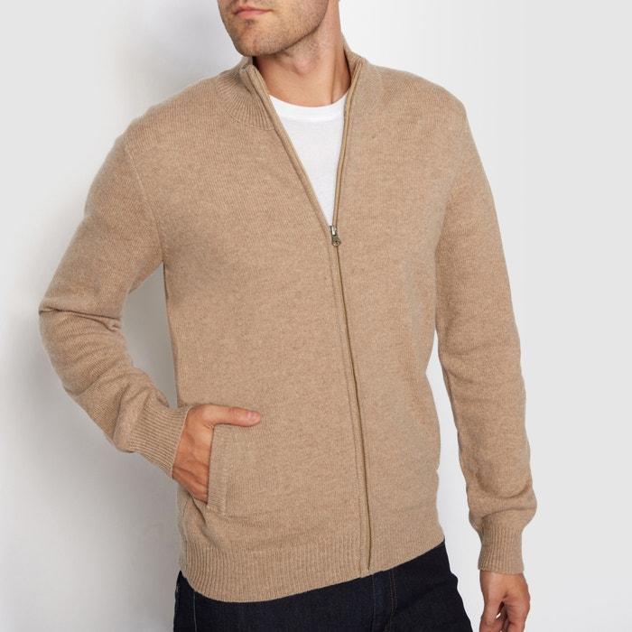 Imagen de Chaqueta de punto con cremallera y cuello alto 100% lana lambswool R essentiel