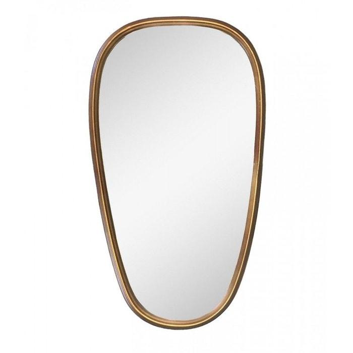 Grand miroir mural dor forme ovo de hauteur 70cm dor for Miroir grande hauteur