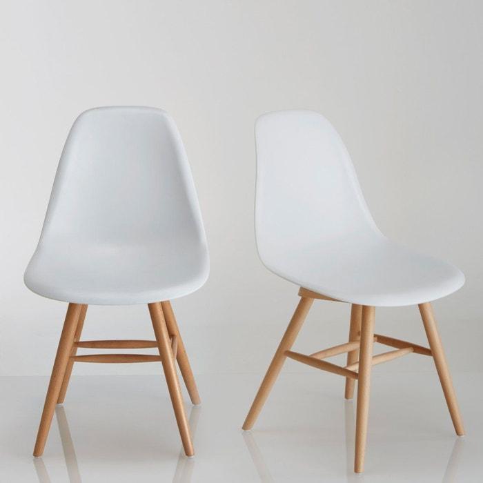 Chaise A Coque Plastique Lot De 2 Jimi Blanc La Redoute Interieurs