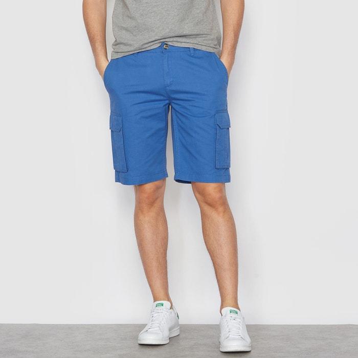 Plain Combat Style Cotton Bermuda Shorts