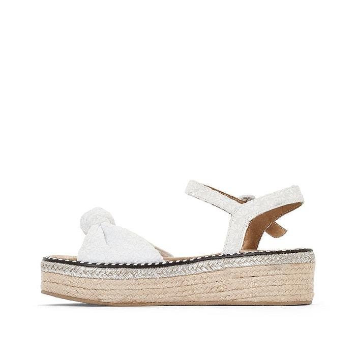 Sandales toile à plateau, parrot blanc Coolway