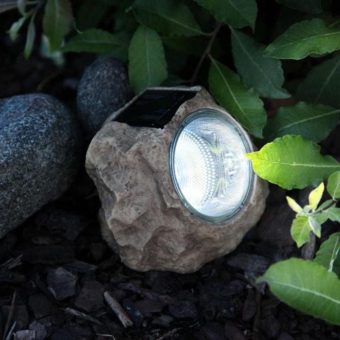 Solar stone lot de 6 rochers solaire d 39 ext rieur led for Luminaire exterieur led solaire