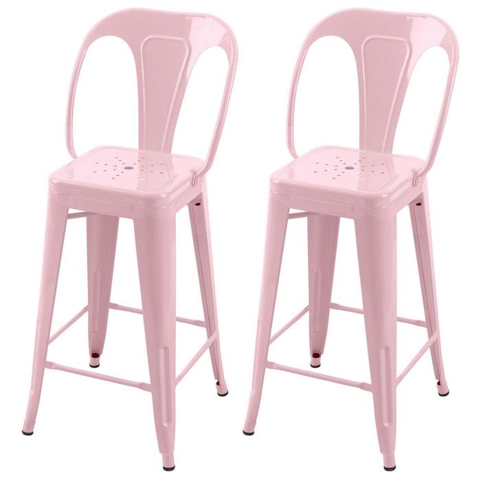 chaise de bar indus 66 cm lot de 2 rendez vous deco la redoute. Black Bedroom Furniture Sets. Home Design Ideas
