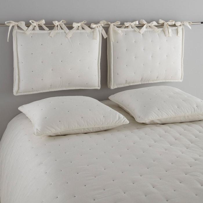 Cuscino per testata letto trapuntato aeri bianco cru pietra la redoute interieurs la redoute - Cuscino testata letto ...