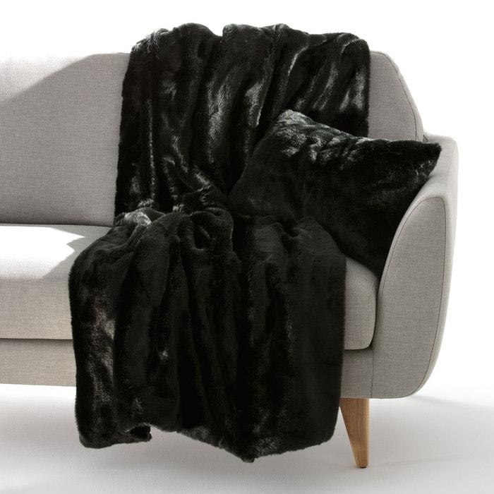 plaid fa on fourrure kanpur la redoute interieurs en solde. Black Bedroom Furniture Sets. Home Design Ideas
