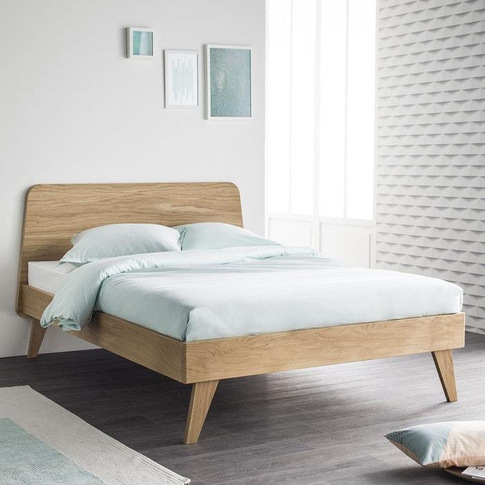 lit ch ne 140x200 sommier oskar ii ch ne naturel alfred et compagnie la redoute. Black Bedroom Furniture Sets. Home Design Ideas