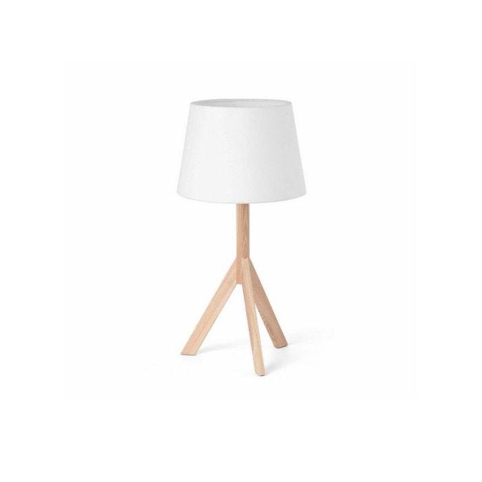 lampe à poser chapeau sobremeso blanc faro | la redoute