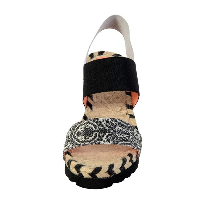 Sandale ibiza save the queen noir Desigual