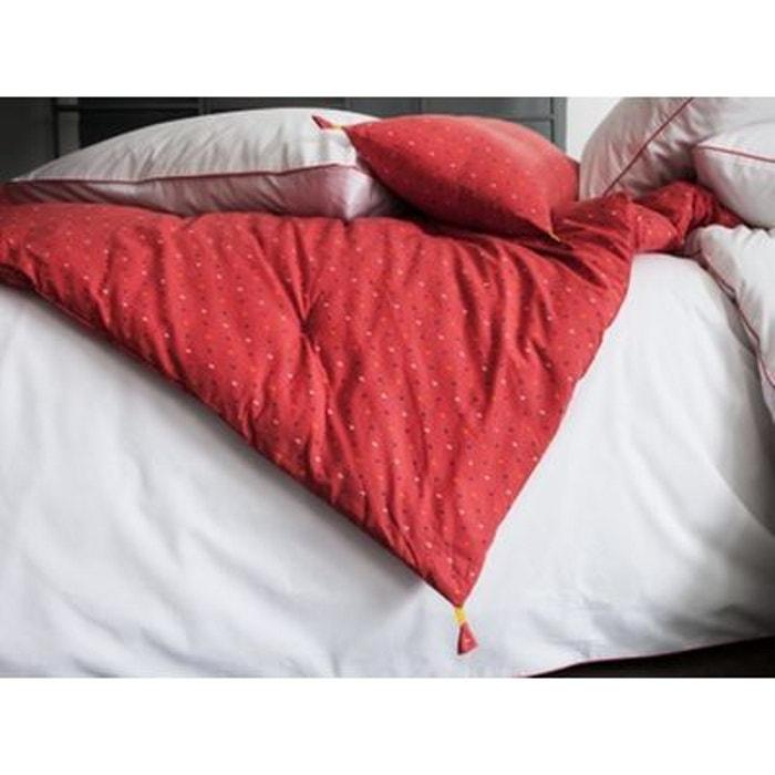 edredon matelass orange 100 coton imprim pois orange blanc cerise la redoute. Black Bedroom Furniture Sets. Home Design Ideas