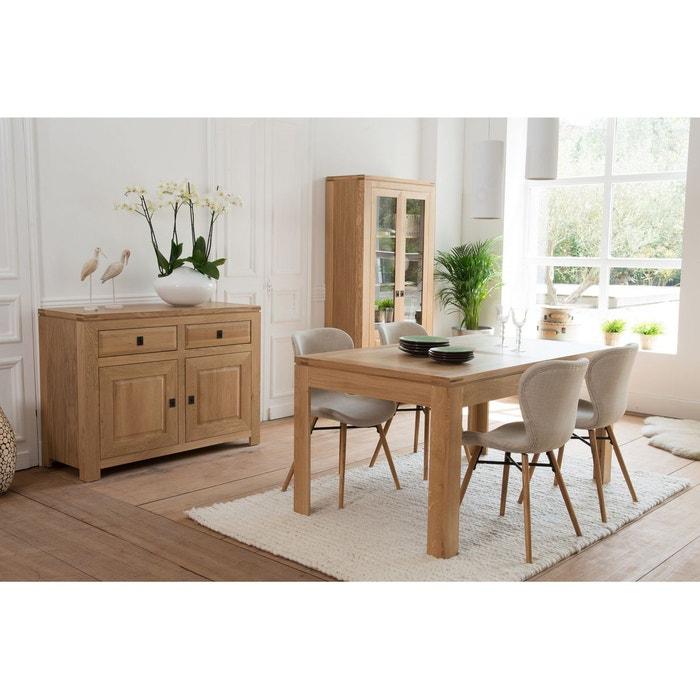 Table rectangulaire extensible BOSTON 160 cm en chêne clair