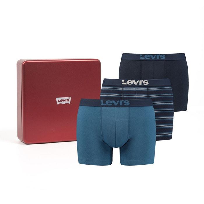 Coffret cadeau boxer lot de 3 bleu Levi s   La Redoute c992343a98a5