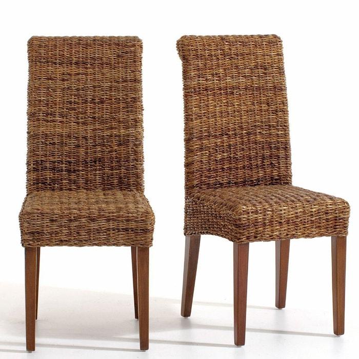 Image Chaise en abaca (lot de 2), Bangor La Redoute Interieurs