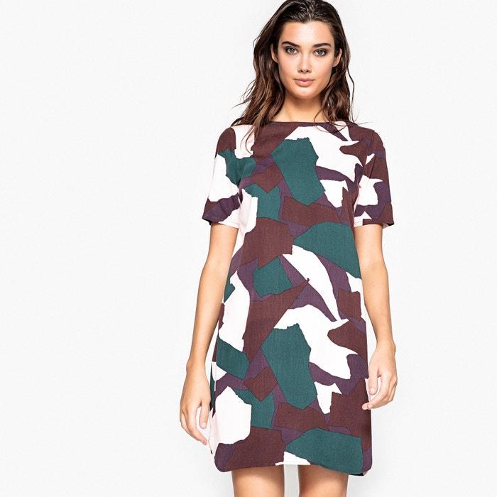 225;s escotado estampado Redoute camuflaje detr Vestido La Collections wqXRF40w