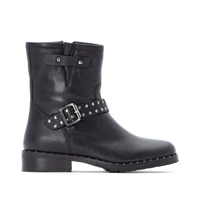 Leren boots met rits 31-39  LA REDOUTE COLLECTIONS image 0