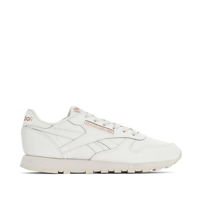 b89745ce232c Sapatilhas em pele, classic leather branco Reebok   La Redoute