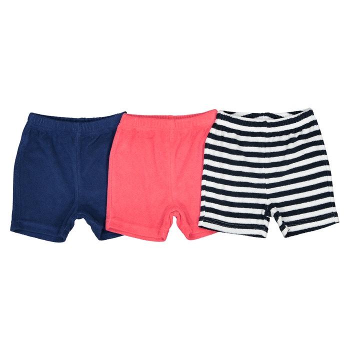 399319150c9ea3 Lot de 3 shorts éponge 1 mois - 3 ans