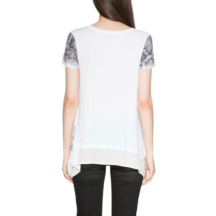 y cuello gr redondo DESIGUAL Camiseta 225;fico con estampado wBx6xIqE