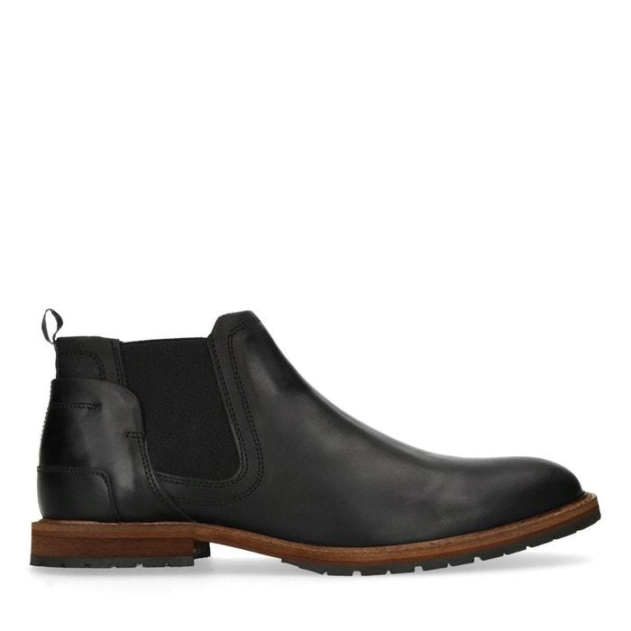 eb117cd3a66 Chelsea boots en cuir basses noir Sacha