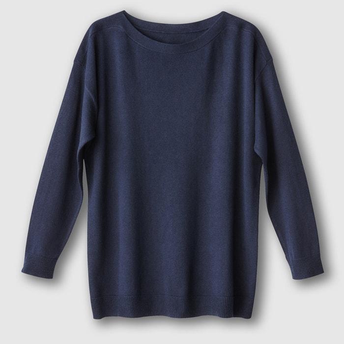 Image Szeroki sweter z dekoltem w łódkę, bawełna/kaszmir R essentiel