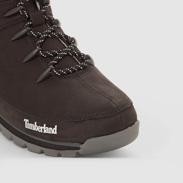 Boots cuir euro sprint hikker noir Timberland
