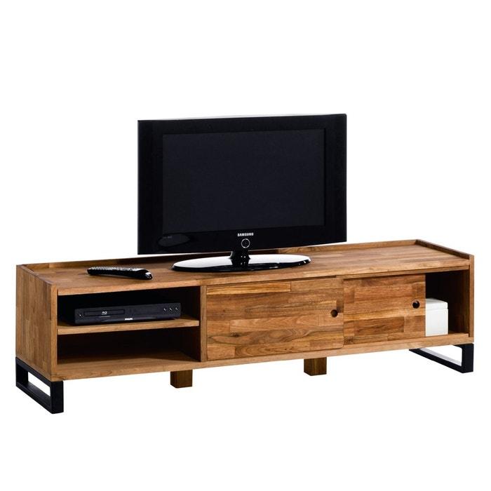 Other Image Hiba Solid Walnut Tv Storage Unit La Redoute Interieurs