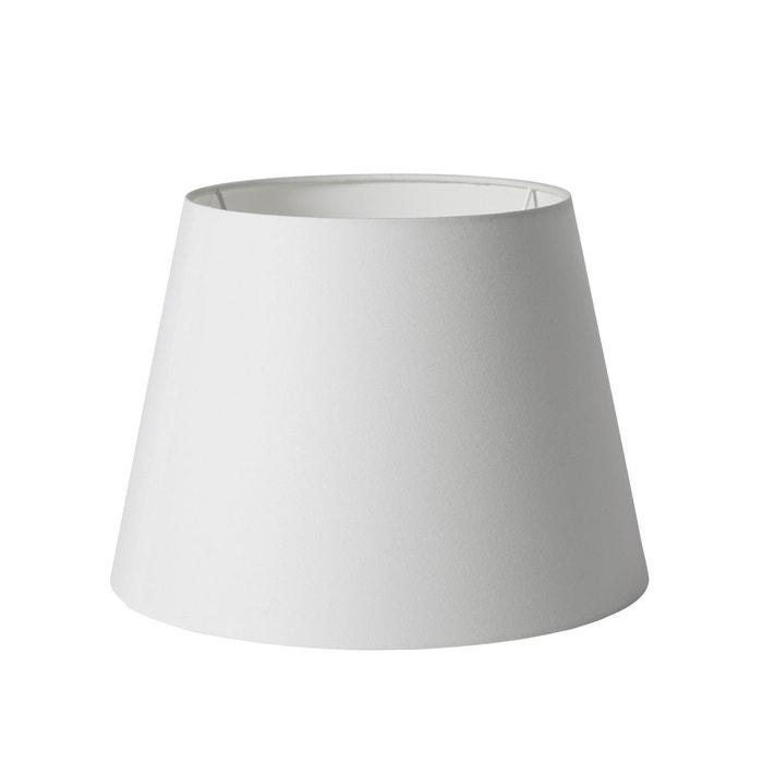 abat jour conique polyester scott blanc madura la redoute. Black Bedroom Furniture Sets. Home Design Ideas