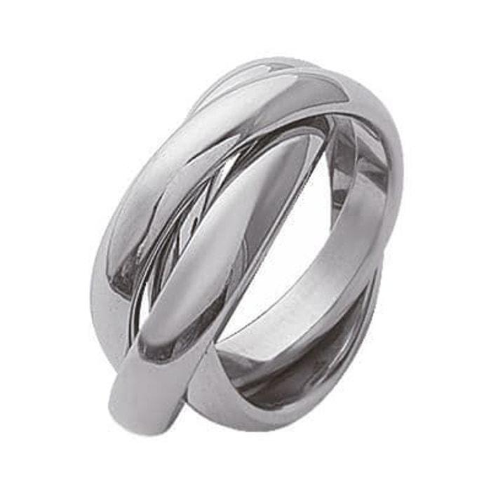 bague alliance 3 anneaux acier inoxydable so chic bijoux la redoute. Black Bedroom Furniture Sets. Home Design Ideas
