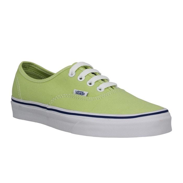 Vans Authentic toile Femme Citron Vert Citron Vert - Chaussures Baskets basses Femme