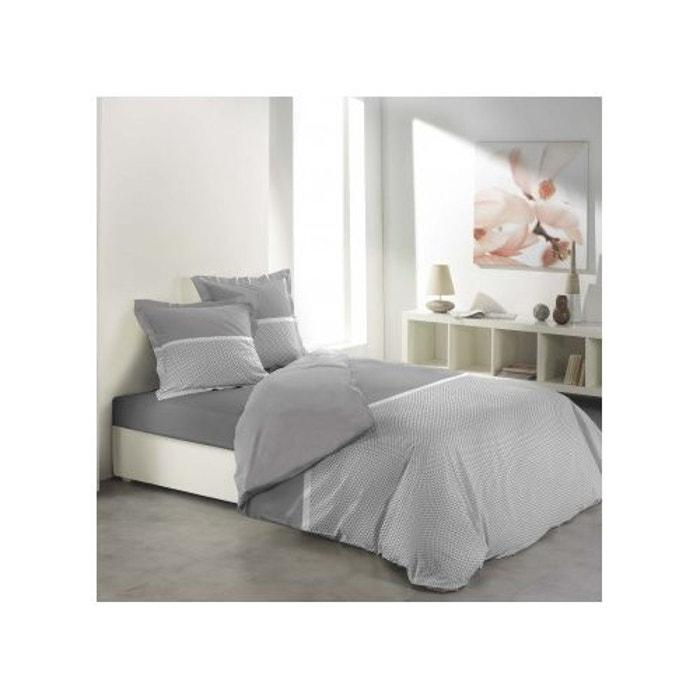 parure de lit malice gris blanc 240x220 douceur d 39 int rieur la redoute. Black Bedroom Furniture Sets. Home Design Ideas
