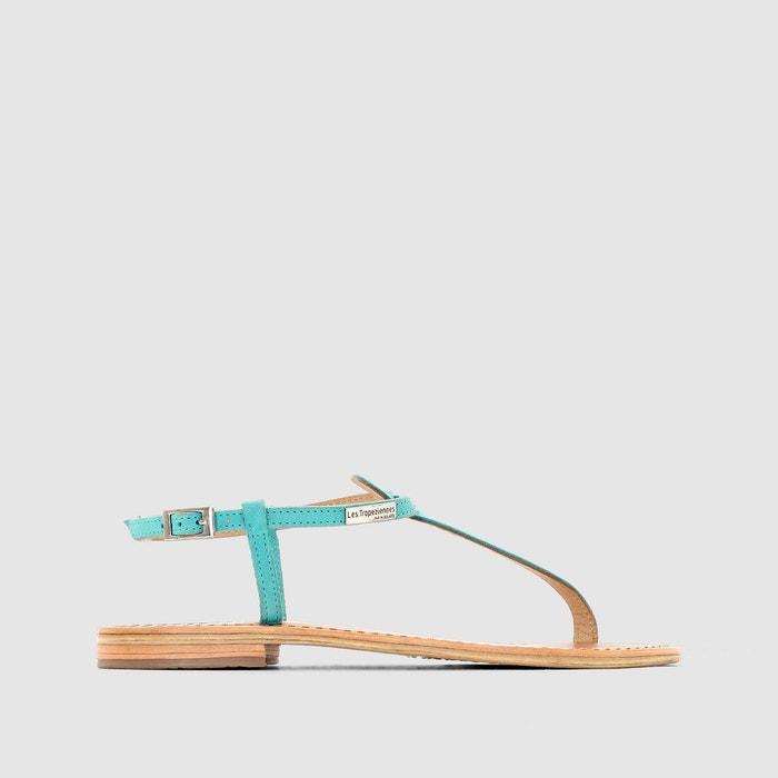 Sandales narbuck, talon plat, entre