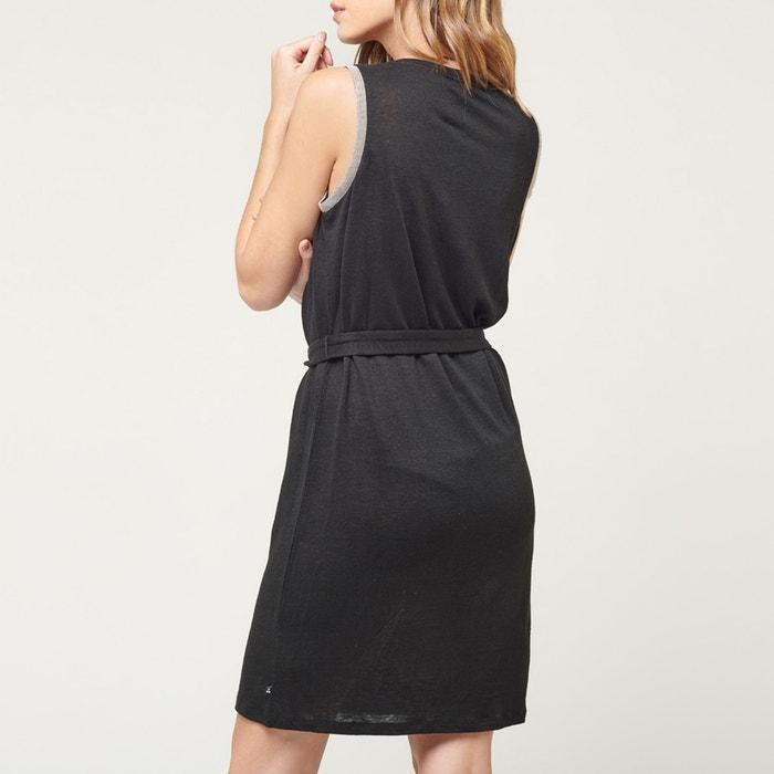 44c73a8d23255 Telly linen dress with narrow straps , black, Le Temps Des Cerises ...