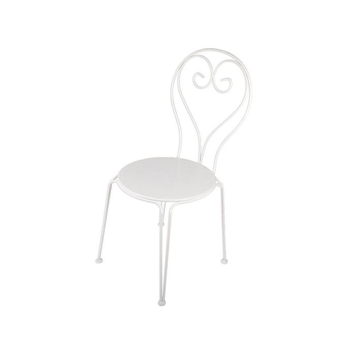Chaise de jardin effet fer forg blanc couleur unique - La redoute chaise de jardin ...