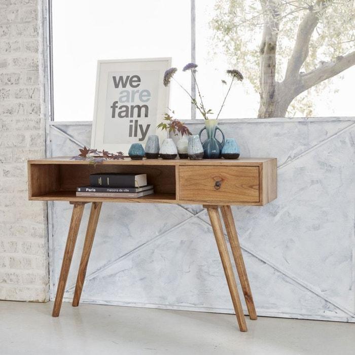 console en bois de mindy avec tiroir mindy bois dessus bois dessous la redoute. Black Bedroom Furniture Sets. Home Design Ideas