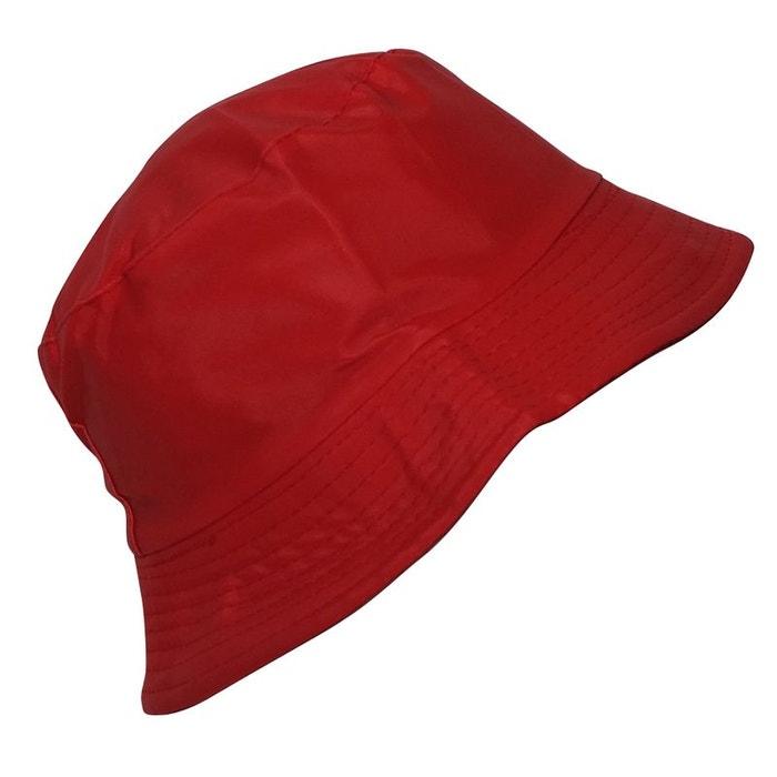 66f85772b0f45 Bob de pluie satiné rouge rouge Chapeau-Tendance | La Redoute