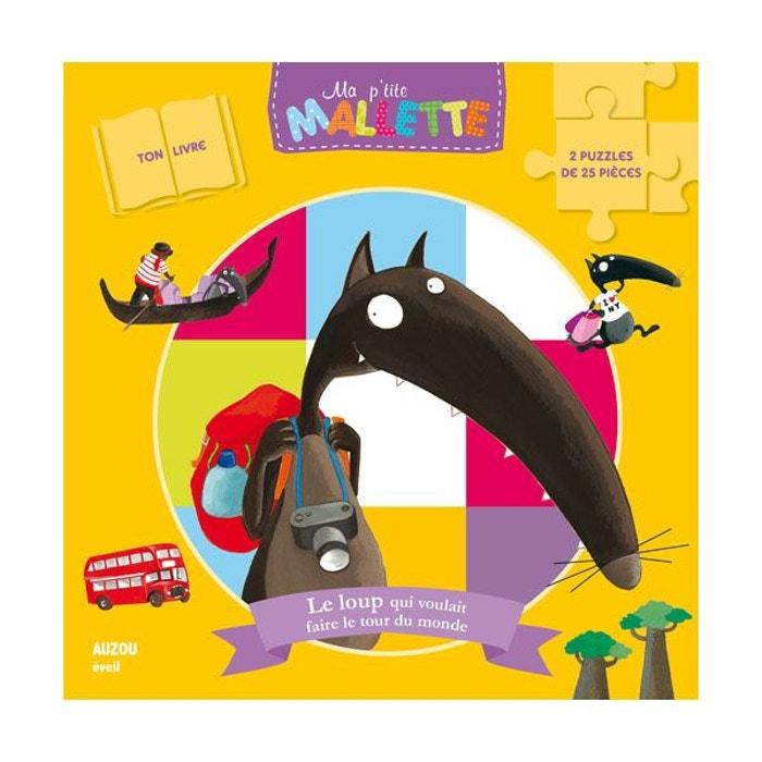 Puzzles 2x16 Pieces Livre Le Loup Qui Voulait Faire Le Tour Du Monde