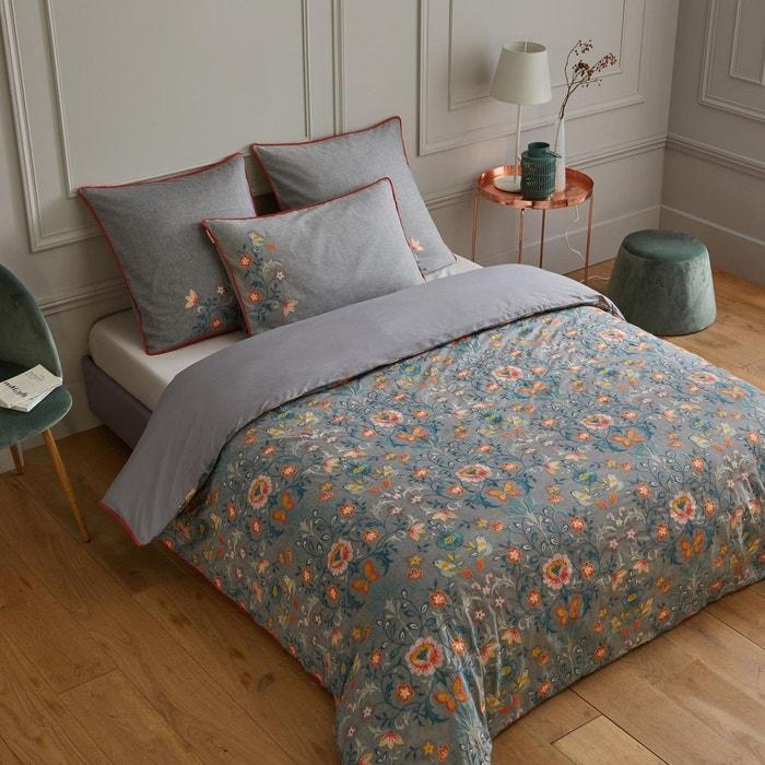 housse de couette coton sakia gris coloris multiples. Black Bedroom Furniture Sets. Home Design Ideas
