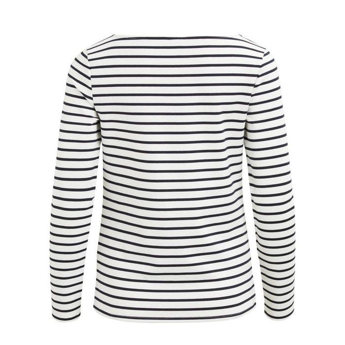 cuello Camiseta larga redondo con manga de VILA FEn4Aqwn