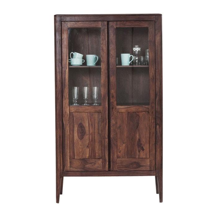 vitrine brooklyn walnut 2 portes kare design bois fonce. Black Bedroom Furniture Sets. Home Design Ideas